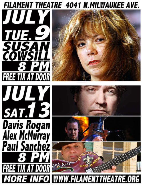 Susan Cowsill, Tom Jackson, Filament Theatre Ensemble