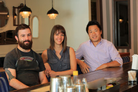 Chef Joey Beato, Director Julie Ritchey, and restauranteur Quay Tao.